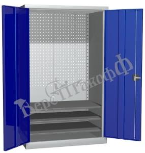 Металлический инструментальный шкаф PROFFI (без перегородки), 3 полки.
