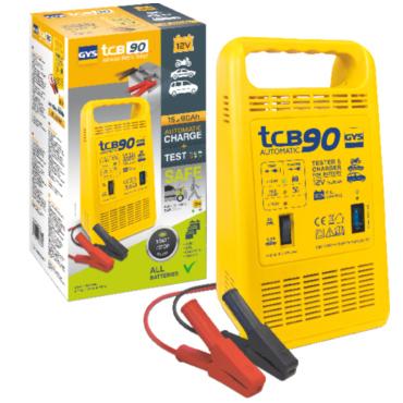 TCB 90 12 В, 120 Вт.  Зарядное устройство автомат, тестер с защитой от ошибки полярности (звуковой сигнал), 15-90А/час, индикаторы: 'тест', 'зарядка', 'сеть'