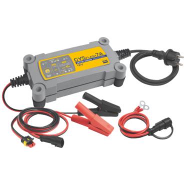 GYSFLASH 7A, 160 Вт. Автоматическое зарядное устройство с возможностью начала зарядки от    1 В. Компактный и легкий, с хорошими рабочими характеристиками, создан для автоматической зарядки и подпитки свинцовых (жидких или глеевых) аккумуляторов 12 В. Бла