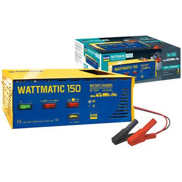 WATTmatic 150 6/12 В  Заряжает на 100 % свинцовые аккумуляторы с жидким или глеевым электролитом (кривая WUoU) Дополнительная защита аккумулятора для обычной зарядки, отделение для кабелей.  Защита от замыкания и смены полярности.