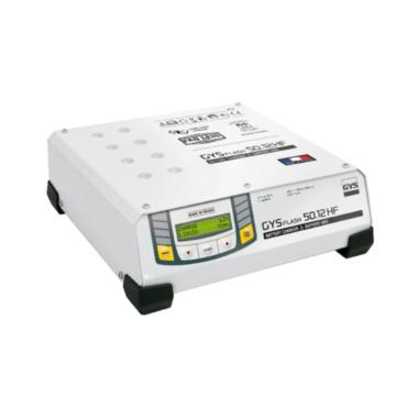 GYSFLASH 100.12 HF Зарядное устройство для аккумуляторов 12 В, ток зарядки 100 А, мощность 1500 Вт. Инверторное зарядное устройство, поддержка аккумулятора автомобиля находящегося в фазе диагностики. Идеальное качество зарядки при обслуживании самых совре