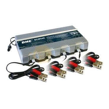 DHC 54E Мульти-зарядная станция 12 В для 4х аккумуляторов в 5 этапов, ток зарядки 5А, 10-80а/ч.