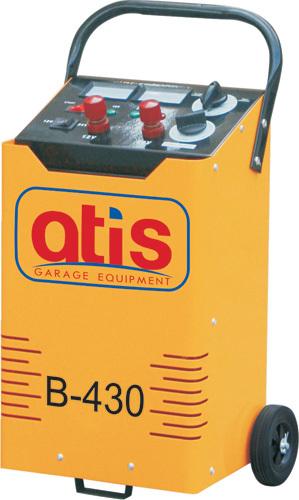 Автоматическое пуско-зарядное устройство. Максимальный стартовый ток: 430А. Эффективный ток зарядки: 7-39А. Зарядка  аккумуляторов емкостью: 35-150 а/ч.  Позиции зарядки - 6 шт.: 7/11/16/24/31/39A.  Напряжение зарядки: 12/24V/220V. Потребляемая мощность: