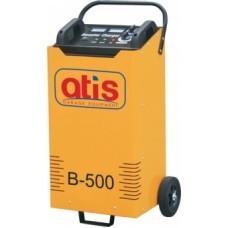 Автоматическое пуско-зарядное устройство. Максимальный стартовый ток: 500А. Эффективный ток зарядки: 8-42А. Зарядка  аккумуляторов емкостью: 35-500 а/ч.  Позиции зарядки - 6 шт.: 8/15/20/26/33/42A.  Напряжение зарядки: 12/24V/220V. Потребляемая мощность: