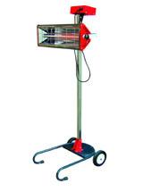 ИК-сушка одноламповая, коротковолновая, на вертикальном перекатном штативе.  Мощность 1 кВт, Площадь сушки 1 х 0,4 м Таймер 1 - 28 мин.