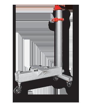 Подкатное силовое устройство башенного типа для стапелей SIVER C, мощность 10 т.  В сборе с гидроцилиндром.