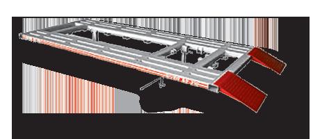 Платформа стапеля Siver C, грузоподъёмность 3 т, платформа в сборе с гидроцилиндром.