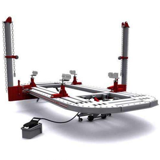 Платформенный стапель для кузовного ремонта из листового металла, грузоподъёмность - 3,5т, с двумя силовыми устройствами башенного типа, расположенными непосредственно на платформе, и max усилием 10т. ПОЖИЗНЕННАЯ ГАРАНТИЯ НА ПЛАТФОРМУ.
