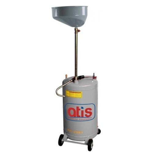 Установка для слива отработанного масла со сливной воронкой. Емкость бака 80л. Емкость сливной воронки 20л.,
