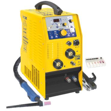 TIG 208 AC/DC-HF  Сварочный аппарат аргонодуговой сварки инверторного типа с микропроцессорным управлением и цифровым экраном, оснащен жидкостной системой охлаждения (емкость 1,25 л). Сварка алюминий, сталь, нержавейка, питание 220В. Установка имеет возмо