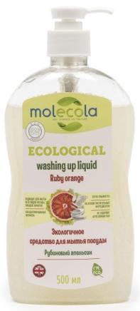 Molecola Средство для мытья посуды Ruby Orange Рубиновый апельсин экологичное 500 мл