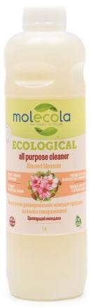Molecola Универсальное моющее средство для всех поверхностей Almond Blossom Цветущий миндаль экологичное 1 л