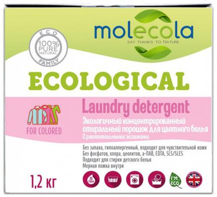 Molecola Стиральный порошок для цветного белья с растительными энзимами 1,2 кг