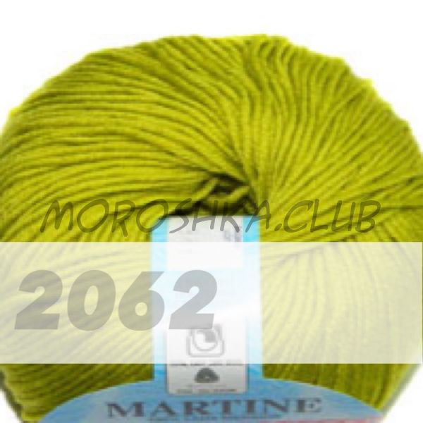 Салатовый Martine BBB (цвет 2062), упаковка 10 мотков