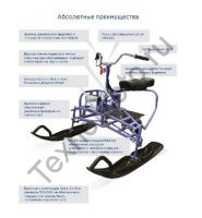 Барс Р 550 универсальный лыжный модуль для мотобуксировщика