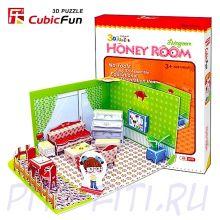 CubicFun. 3D пазлы. Набор для девочек. Медовая комната. Гостиная