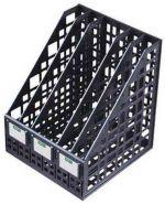 Лоток вертик 245мм СТАММ 5 секц чёрный сборный /14 ЛТ85