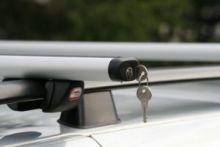 Багажник на рейлинги, Amos Futura, аэродинамические дуги 1.2м