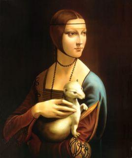 Дама с горностаем (Репродукция Леонардо да Винчи)
