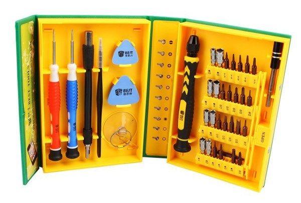 Набор инструментов для ремонта телефонов и ноутбуков 38 в 1 (улучшенная сталь)