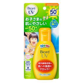 """Детское солнцезащитное молочко для лица и тела SPF 50+ КAO """"Biore"""" UV, бутылка 90г"""