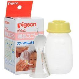 PIGEON Бутылочка с ложечкой для кормления 3+ мес 120 мл