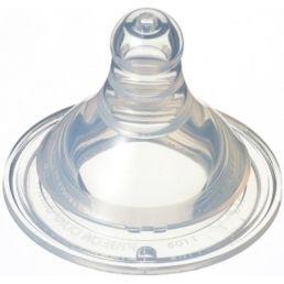 PIGEON Соска силиконовая для детской бутылочки Перистальтик Плюс размер SS 0+мес 1шт