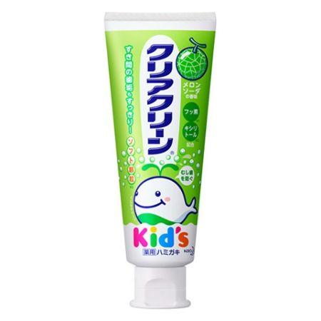 """Детская зубная паста с мягкими микрогранулами для деликатной чистки зубов КAO """"Clear Clean"""" дыня, туба 70г"""