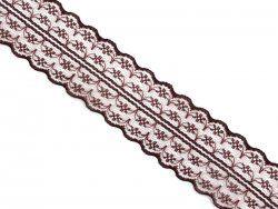 `Кружево, ширина 45 мм, цвет коричневый