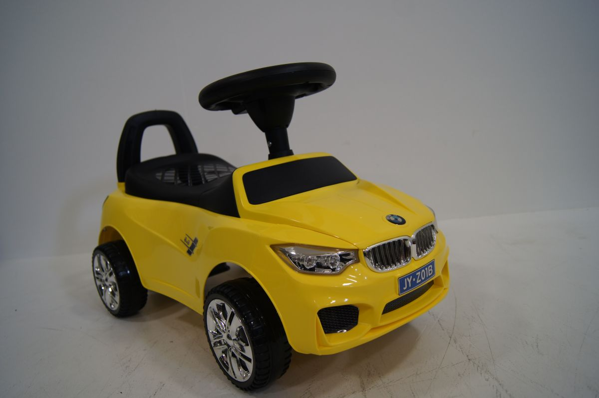 Детская машина-каталка толокар River Toys BMW JY-Z01B желтый