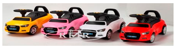 Детская машина-каталка толокар River Toys Audi JY-Z01A зеленый
