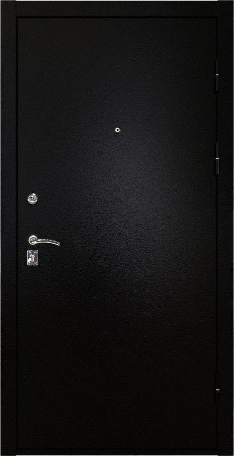 Металлическая дверь Luxor 3 черная шагрень
