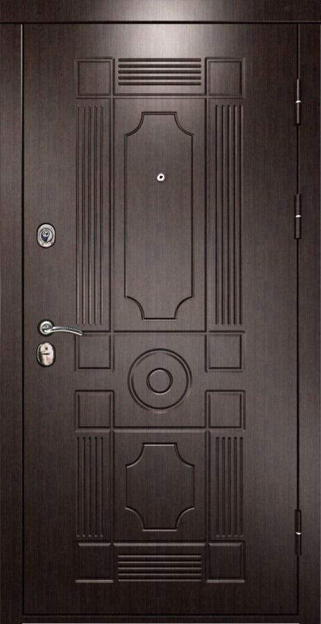 Металлическая дверь Luxor 5 ПВХ венге