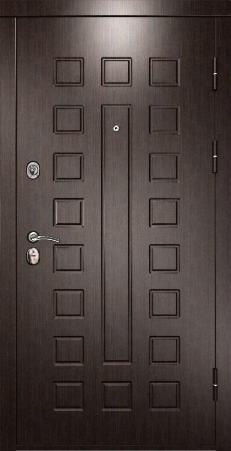 Металлическая дверь Luxor 6 ПВХ венге