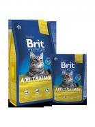 BRIT Premium Adult Salmon Нежный лосось в соусе для взрослых кошек (300 г)