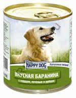HAPPY DOG  Консервы Баранина с сердцем, печенью, рубцом 0,75 кг