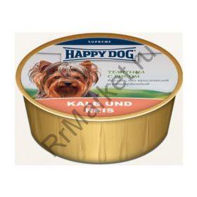 HAPPY DOG  Телятина с рисом 125 гр