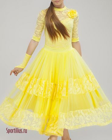 Платье желтое для стандарта