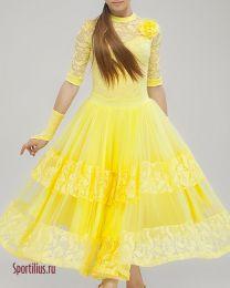 Платье для стандарта желтое
