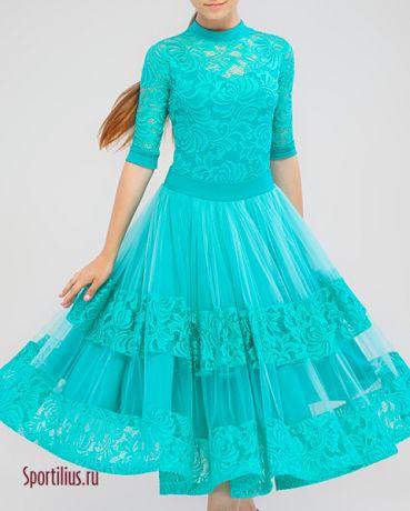 Платье для стандарта мятного цвета