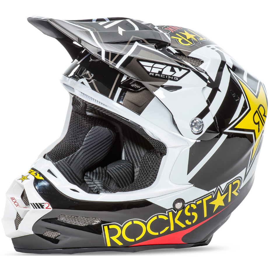 FLY - F2 Carbon Rockstar шлем, черно-белый