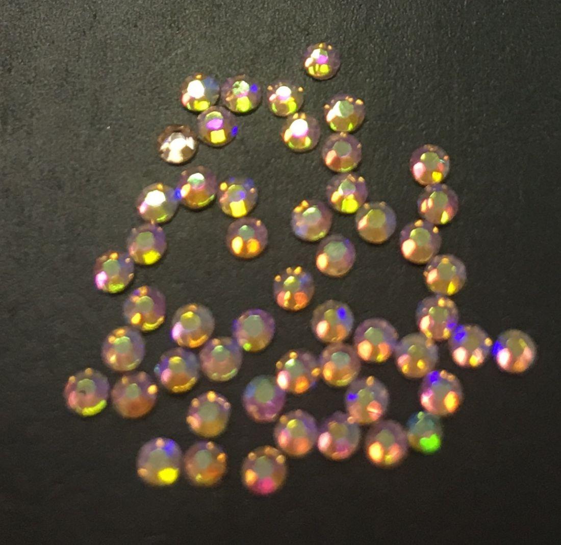 Стразы SS4 стекло плоские (Light Peach AB 023) уп/50шт
