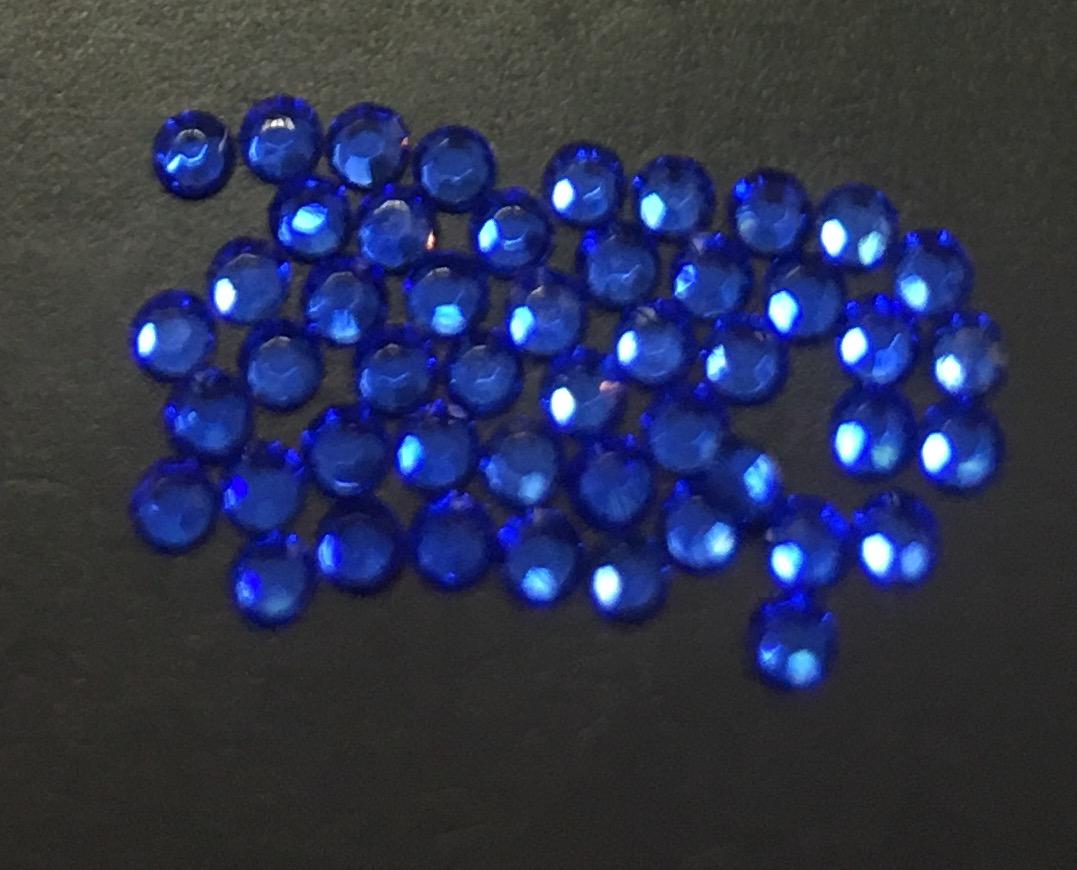 Стразы SS4/1,72мм стекло плоские (синие 08) уп/50шт