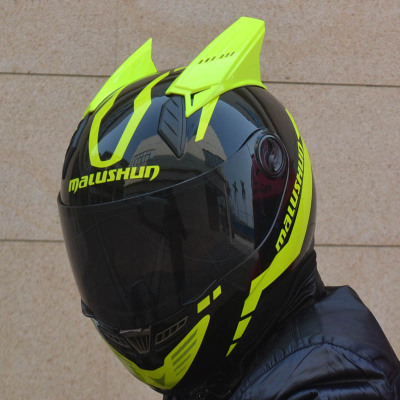 Мотошлем Marushin 999 c ушами (интеграл) черно-желтый
