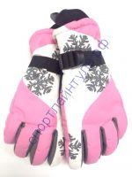 """Перчатки женские """"Снежинка"""" розовые"""