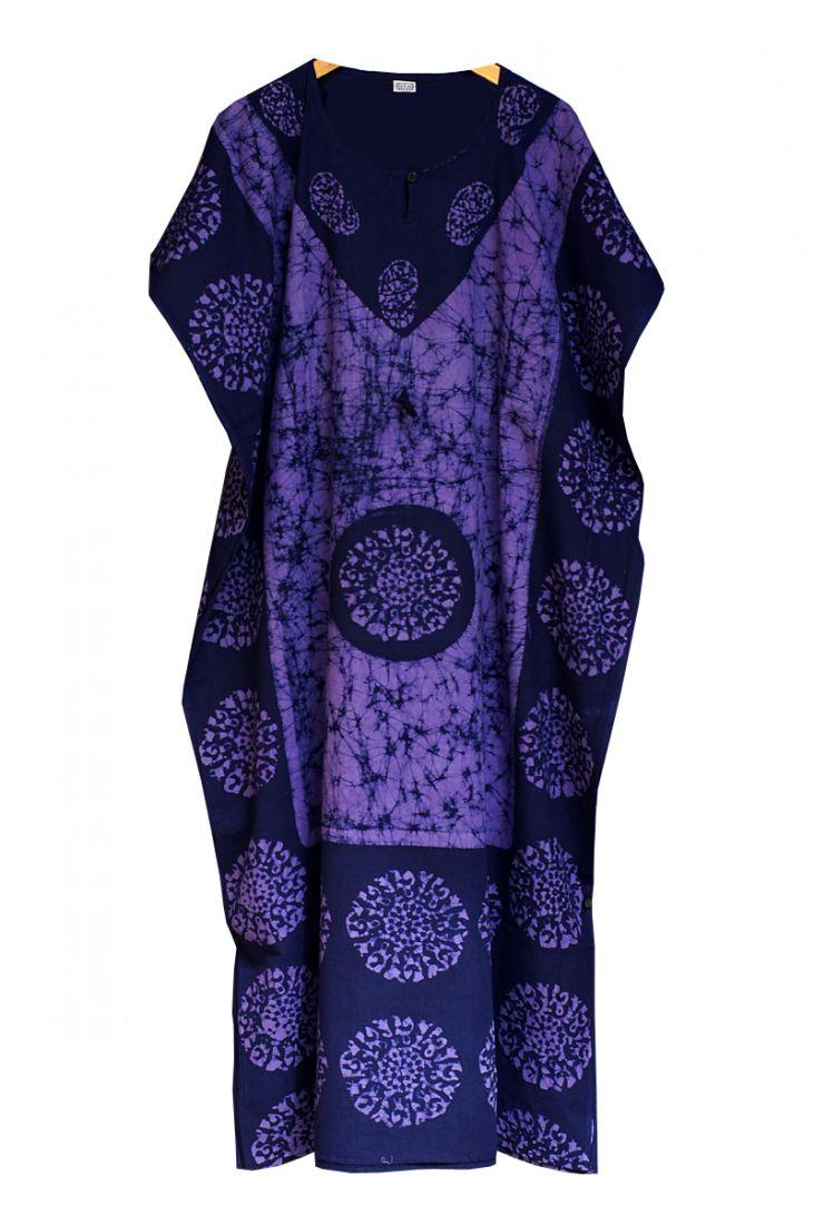 Фиолетовое длинное безразмерное платье (Москва)