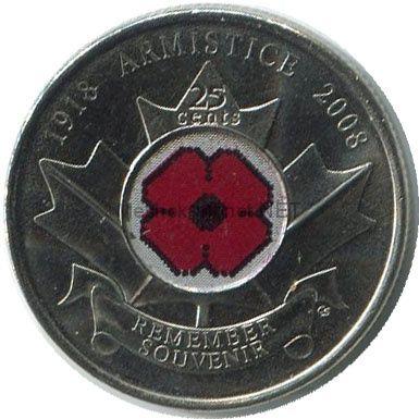 Канада 25 центов 2008, День памяти погибших на войне
