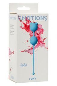 Вагинальные шарики Lola Toys Emotions Foxy голубые