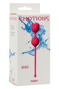 Вагинальные шарики Lola Toys Emotions Foxy малиновые