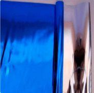 Плёнка металл, синяя, 200 гр, 70 см*7,5 м